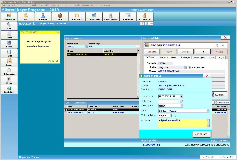 Müşteri Kayıt Programı